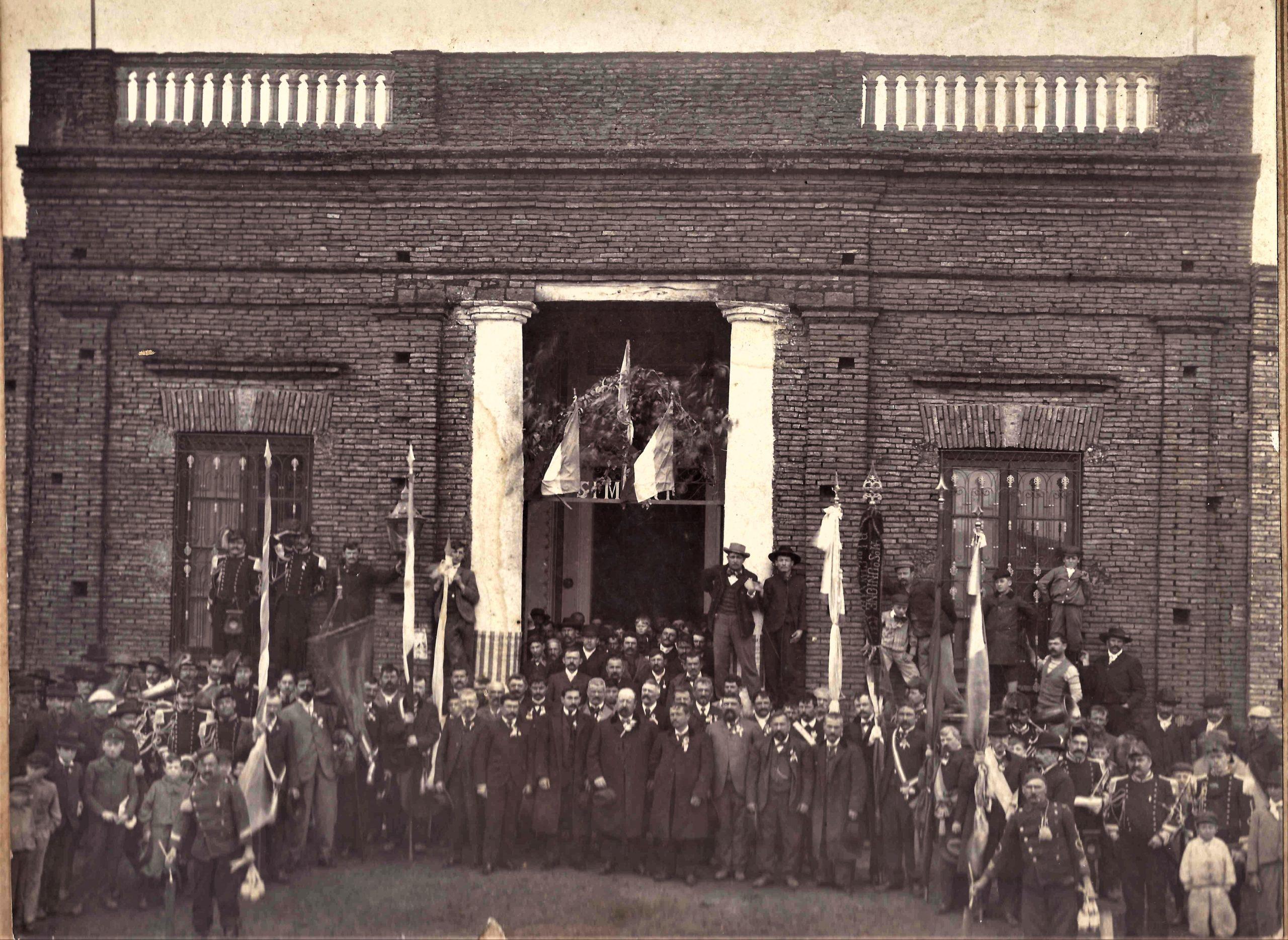 Fiesta del 20 de septiembre de 1904, Sede de la Sociedad Italiana, hoy Marabunta.